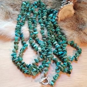 """80"""" long Vintage turquoise necklace"""
